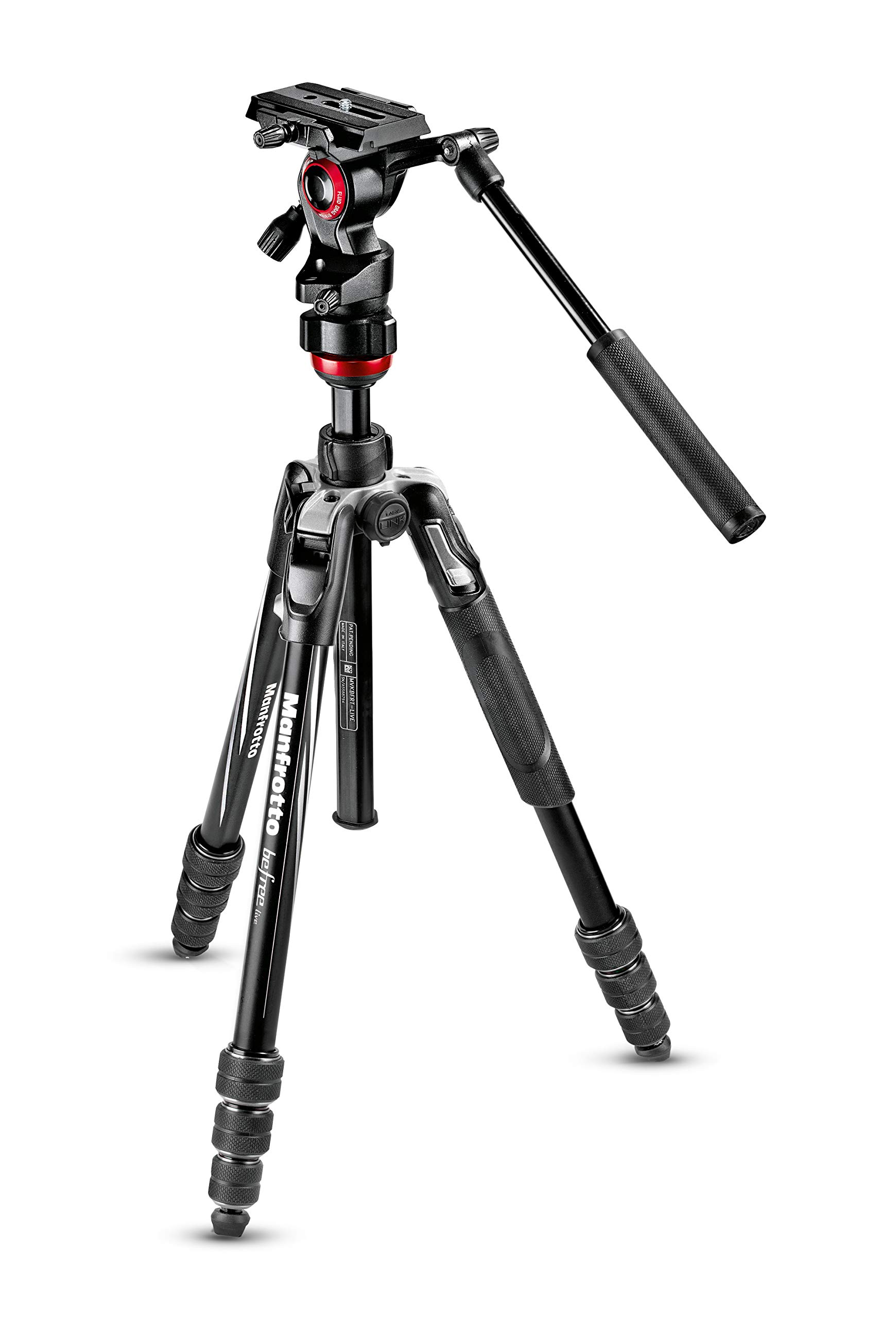 Manfrotto Travel Befree Live Aluminium Tripod Twist, Video Head, Black, Compact (MVKBFRT-LIVEUS) by Manfrotto