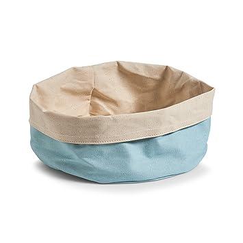 Zeller, Bolsa para el Pan Redonda de algodón, algodón, Mint/créme, 26 x 25 x 13 cm
