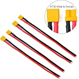 4pcs XT30 Plug Male Female Connector with 150mm 16AWG Silicone Wire for RC LiPo Battery FPV Drone