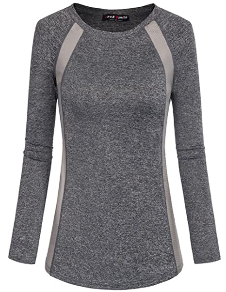 293453c6 JACK SMITH Running Shirts for Women, Scoop Neck Lightweight Fitness Sports  Wear (XL,