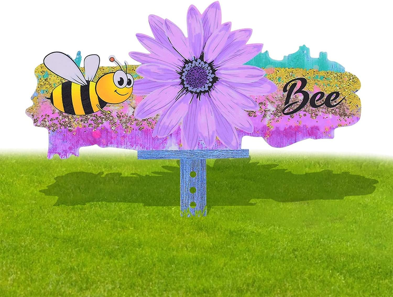 ZHANGRONG Decorative Garden Stakes Bee Gnome,Bee Festival Faceless Doll to Insert Decorative Garden Plug-in,Gnomes Yard Signs Stakes for Garden Yard Décor (F)