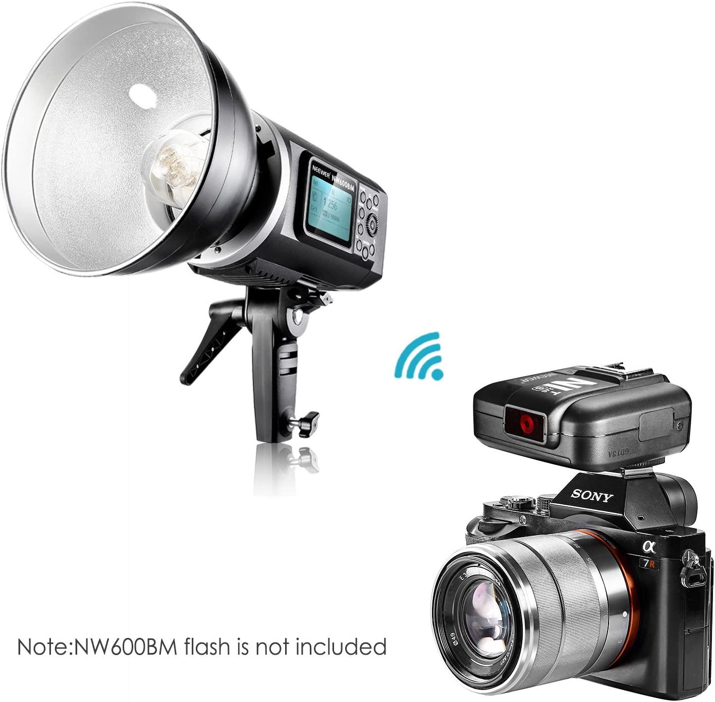 Neewer N1T-S TTL 2.4G 32 Channels Wireless Flash Trigger Transmitter for Sony A77II A7RII A7R A58 A99 A6000 Camera with Mi Hot Shoe Studio Flash and Flash Speedlite