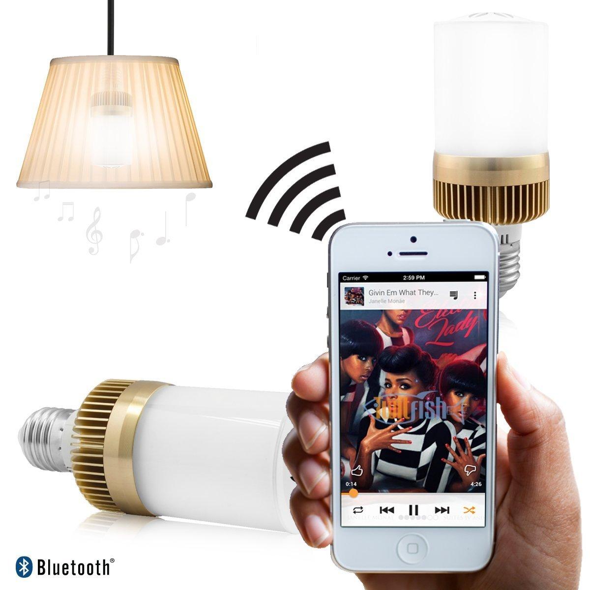 Twitfish - Boombox Bulb: All-in One Bluetooth Light Bulb & Speaker Twitfish®