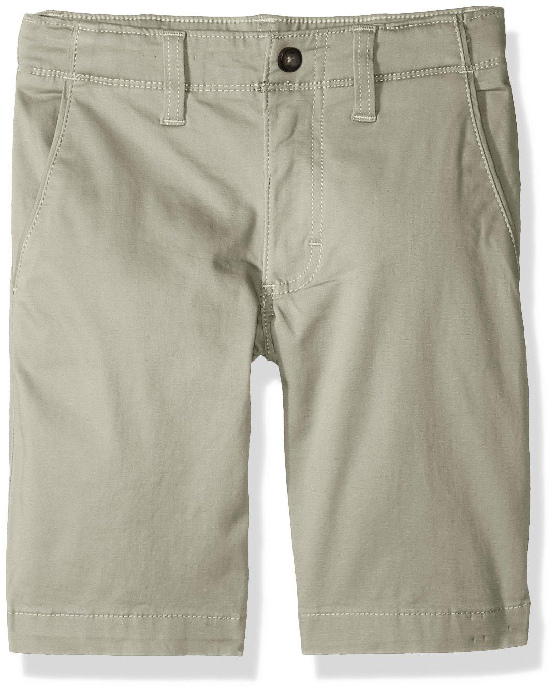 LEE Boys' Big Extreme Comfort Chino Short, Stone, 12 Regular