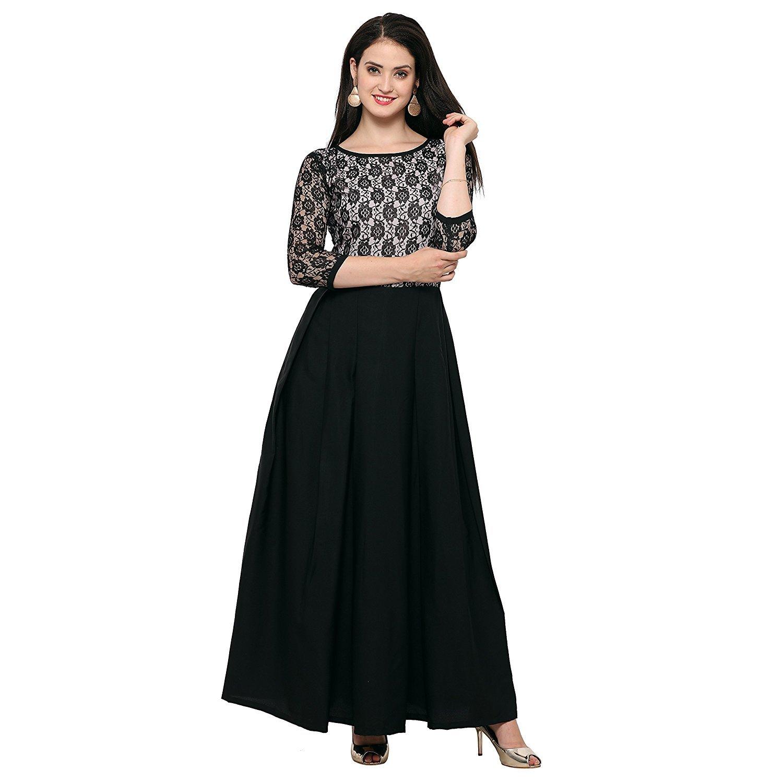 Royal Export Women's A-Line Maxi Dress (audi-white-XL_Black-White_X-Large)