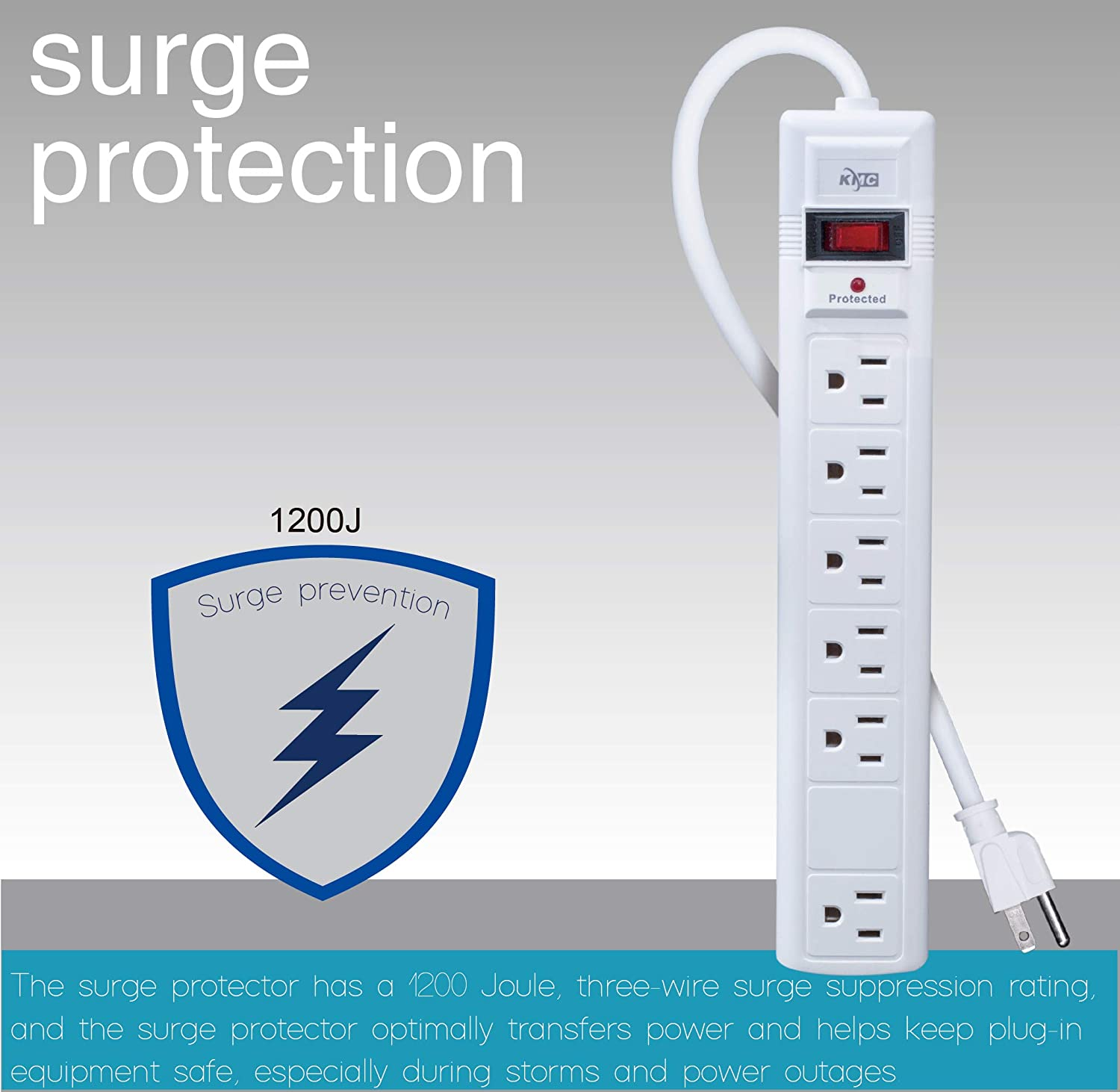 Kmc 6 Outlet Surge Protector Power Strip With Feet Up To A Bar By Cutting The Plug Off Of Powerbar No Idea As I Cord 1200 Joule Overload Protection White Home Audio Theater