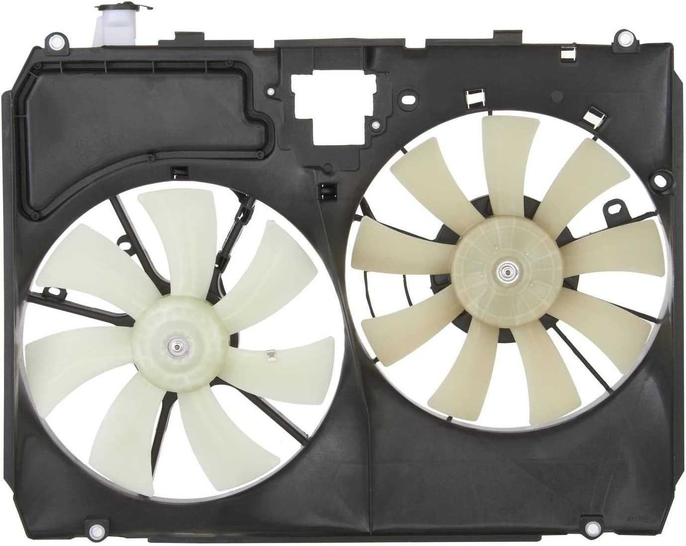 Dual Radiator and Condenser Fan Assembly - Cooling Direct Fit/For 167110A220 04-05 Toyota Sienna With Tow-Package (Without Module)