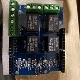 Amazon com: HiLetgo Relay Shield 5V 4 Channel Arduino UNO R3