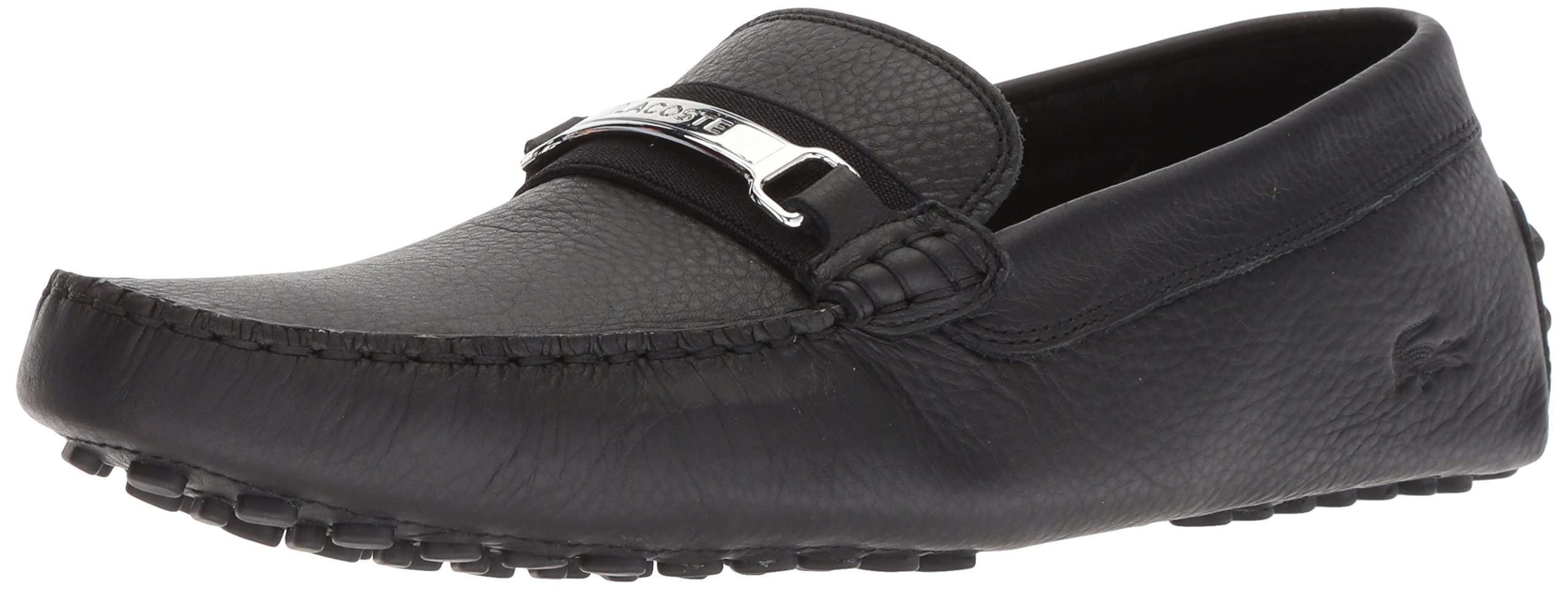 Lacoste Men's ANSTED Driving Style Loafer, Black, 13 Medium US