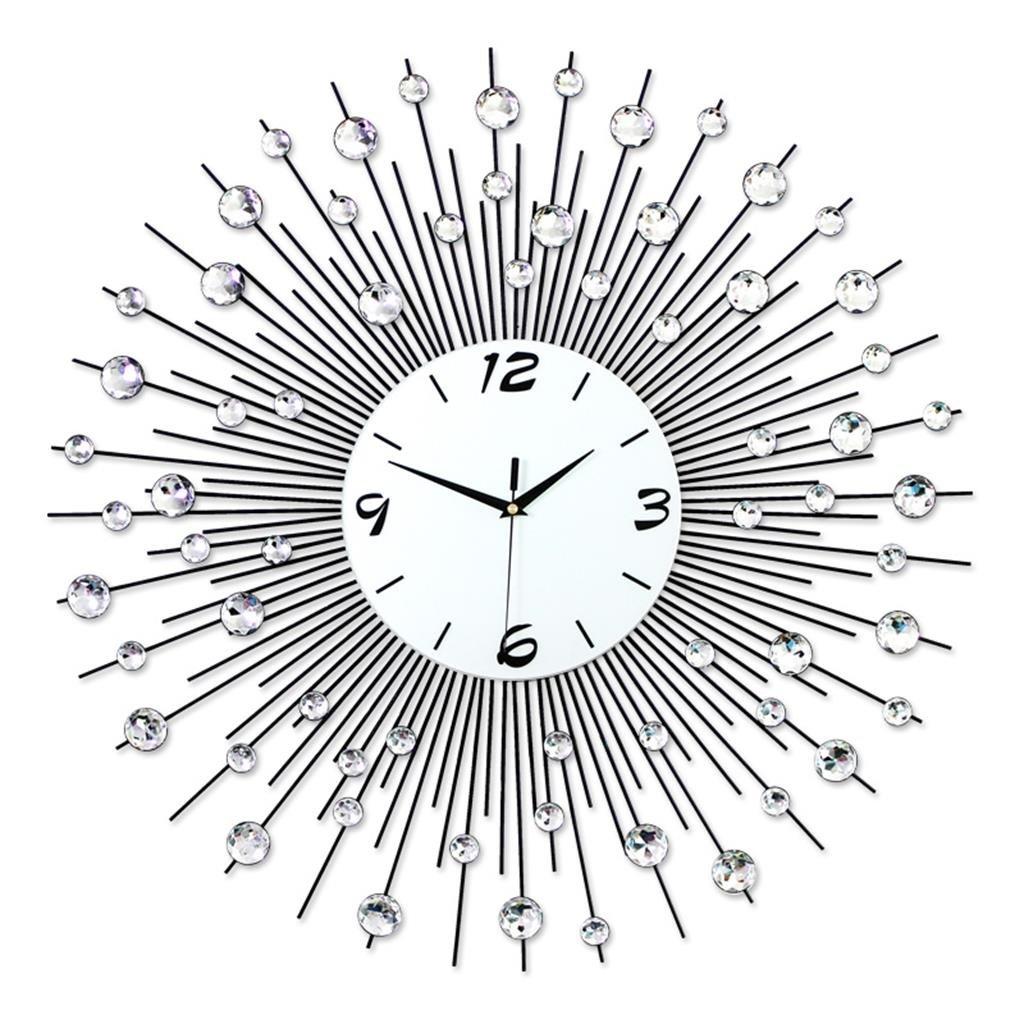 60 * 60 cmウォールクロックリビングルームモダンなミニマリストヨーロッパのクリエイティブなベッドルームの静かな鐘 B07D1PSMVQ