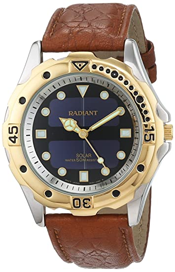 Radiant Reloj Análogo clásico para Hombre de Cuarzo con Correa en Cuero 5651015: Amazon.es: Relojes