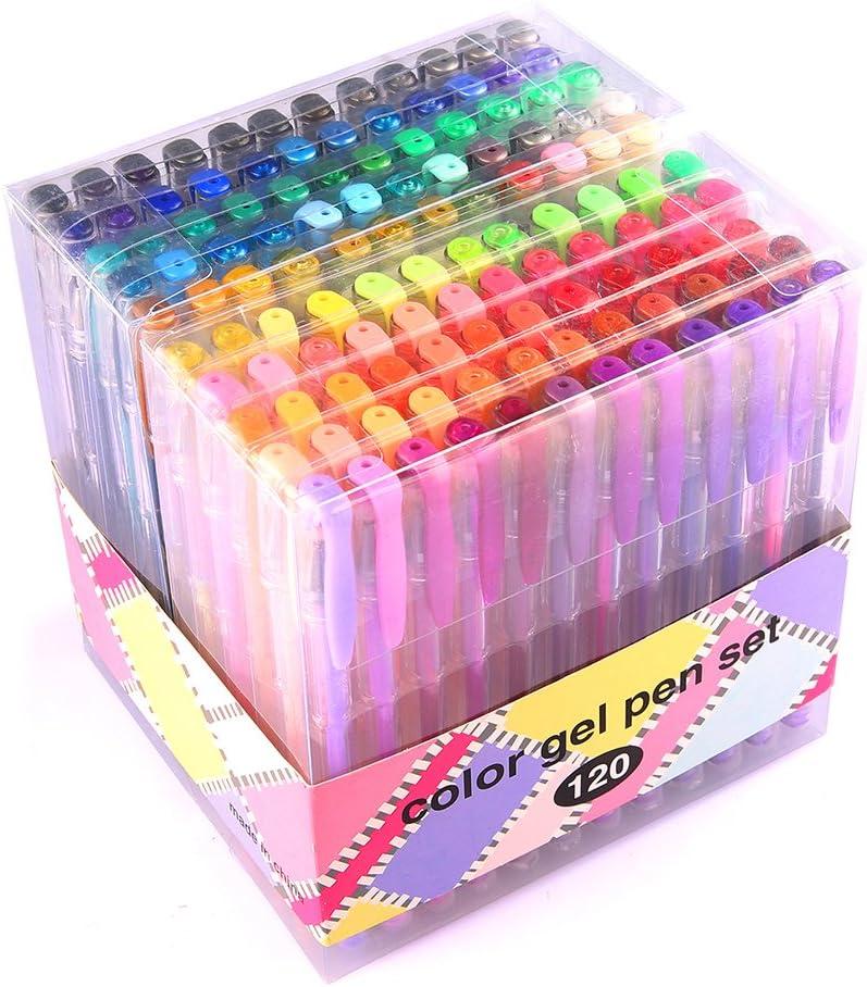 Glitter Metallic Pastel 120 Colors Gel Pen Set