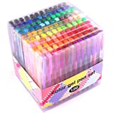 Gel Pens for Adult Coloring innhom 120 Colors Gel Pen Set for Adult Coloring Books Crafting Doodling Scrapbooking Drawing- Gl