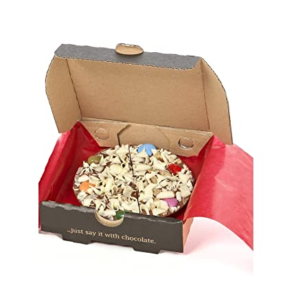 Amazon.com: Gourmet Chocolate – Pizza de chocolate belga ...