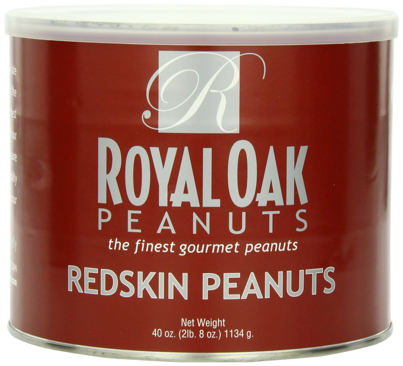 Royal Oak Gourmet Virginia Redskin Peanuts, 40-Ounce Tin (Pack of 4)