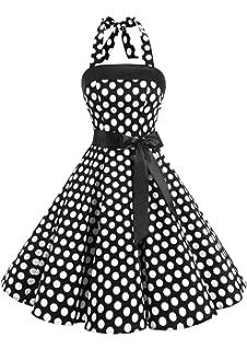 Timormode Vestidos de Fiesta Vintage 50s Elegante Mujer Fiesta Boda Ocacion Formal