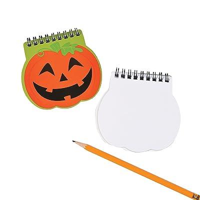 Fun Express - Pumpkin Spiral Notepad for Halloween - Stationery - Notepads - Notepads - Halloween - 12 Pieces: Toys & Games