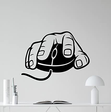 Amazon.com: N.SunForest Computer Mouse Wall Decal Gaming Gamer Video ...