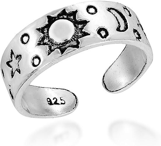 Anillo ajustable del dedo del pie de plata esterlina 925-en Caja De Regalo!
