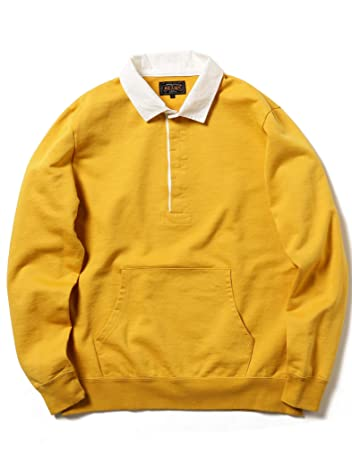 Beams Plus Pocket Rugby Shirt 11-12-0061-156: Mustard