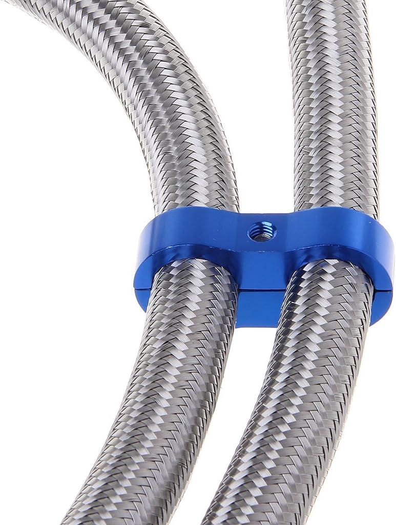 Klemme blau geflochten Stepped Billet Dual AN10 Schlauchtrenner 19 mm