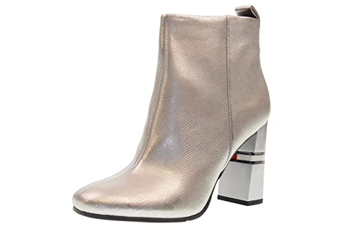 TOMMY HILFIGER Botines Tobillo Mujer EN0EN00280 000 Crackled Metallic HE: Amazon.es: Zapatos y complementos