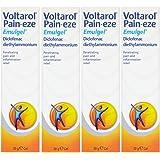 Voltarol Pain-Eze Emulgel Pain Relief Gel (4 x 30g) Pain & Inflammation Relief
