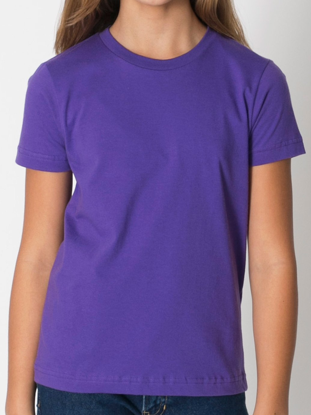 American Apparel Boys Fine Jersey Short-Sleeve T-Shirt (2201) -BABY BLUE -10 by American Apparel (Image #4)