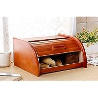 Brot-Box aus Holz, aufrollbar oder herunterklappbar, verschiedene Versionen erhältlich