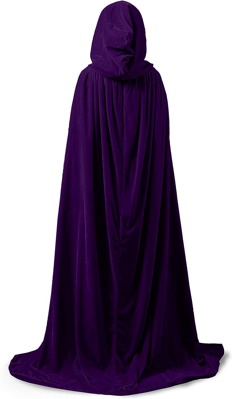 ShineGown Mittelalterliche Kapuze Kap Erwachsene Unisex Umhang Halloween Cosplay Kost/üm Kleid Vintage Damen M/änner Samt Gothic Wicca Robe Lange Hochzeit Braut Wraps