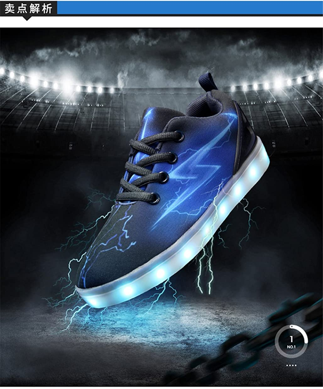 pit4tk LED Light Up Shoes USB Charging Flashing Sneakers for Kids Boys Girls for Christmas