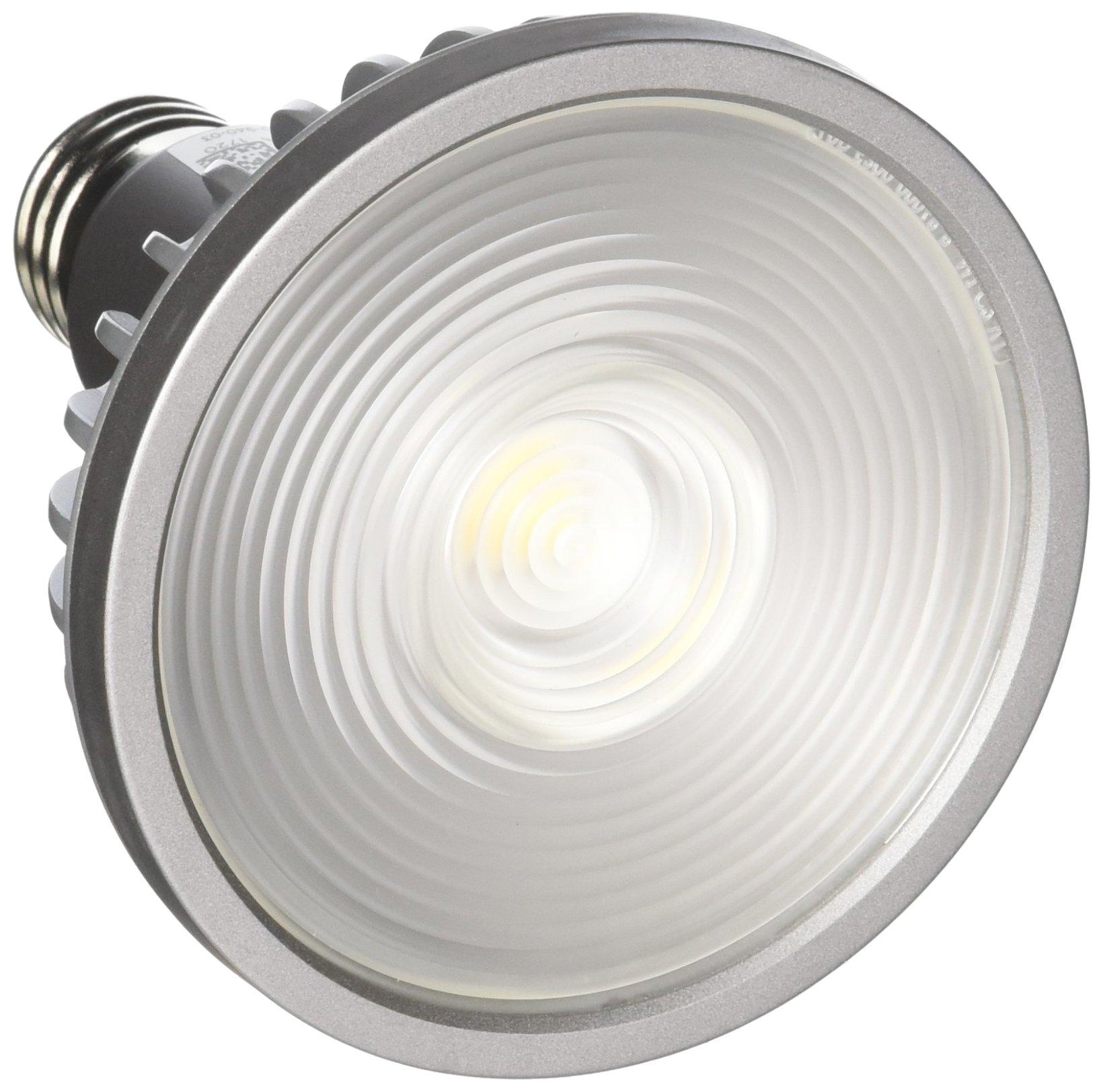 Bulbrite SP30L-18-60D-940-03 SORAA 18.5W LED PAR30L 4000K VIVID 60° Dimmable Light Bulb, Silver