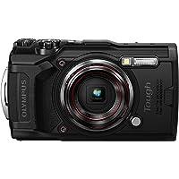 Olympus Tough TG-6 Digitalkamera (12 MP, 25-100mm 1: 2, 0 Objektiv, GPS, Manometer, Temperatursensor, Kompass) schwarz