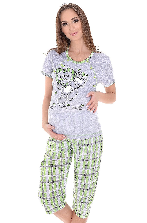 MijaCulture - 2 in1 Stillpyjama Stillschlafanzug Umstandspyjama 2072