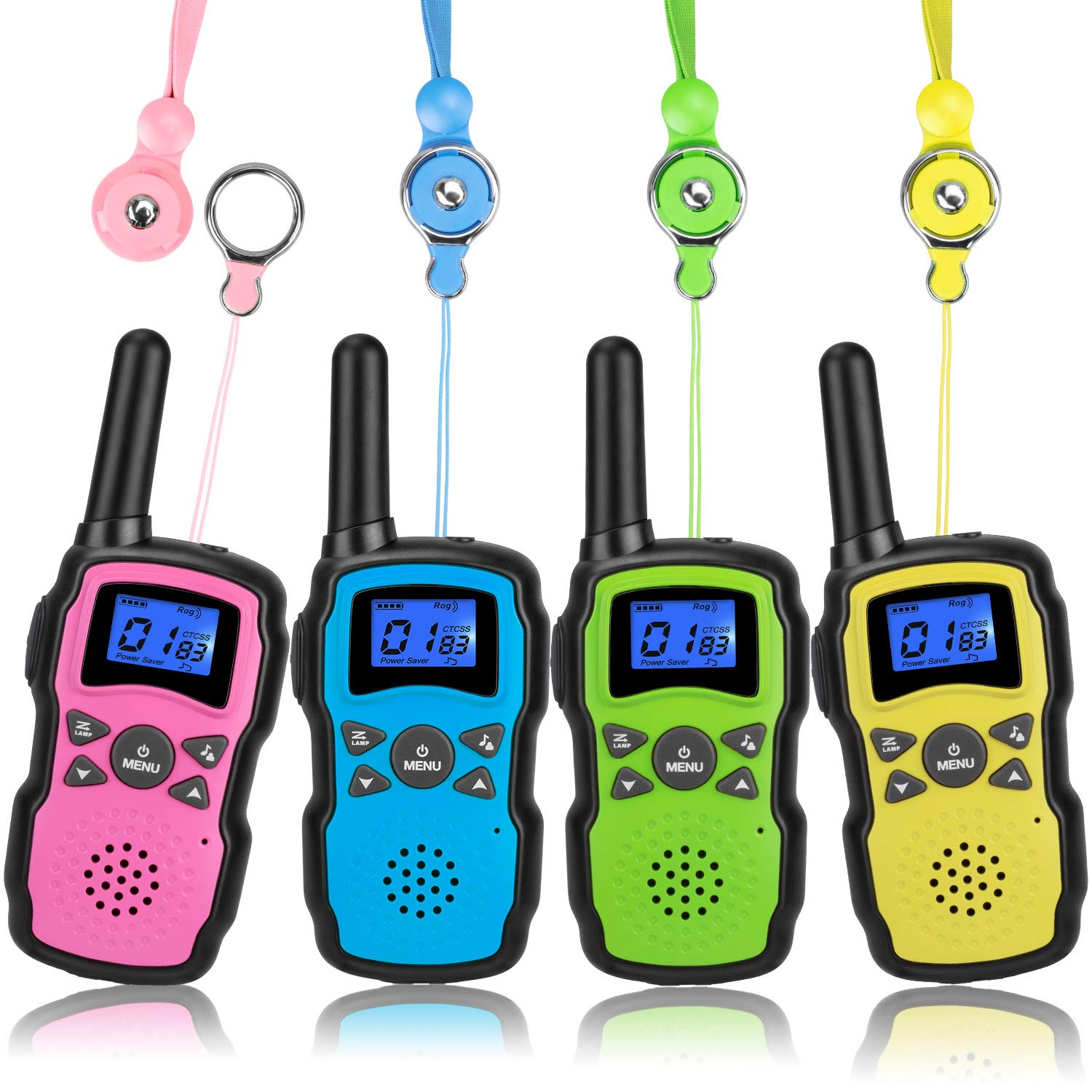 Wishouse Walkie Talkies for Kids 4 Packs, Two Way Radio Family Talkabout for Adults Cruise Ship Long Range, Outdoor Camping Hiking Fun Toys Birthday Gift for 3 4 5 6 7 8 9 10 11 12 Year Old Girls Boys by Wishouse (Image #1)