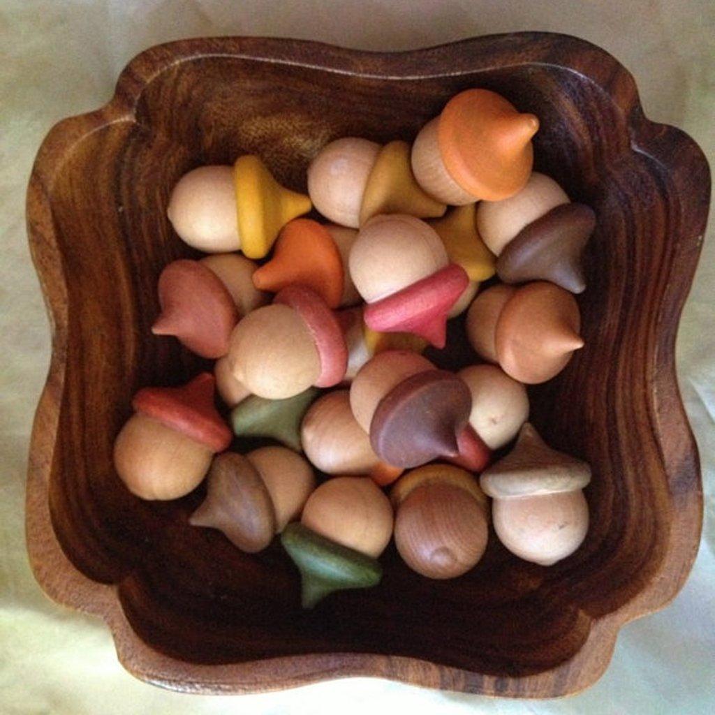 jiamins 100//Set Holz Peg Puppen unfertig Acorn Form DIY Paint Fleck Puppen Crafts Ornament Dekorationen