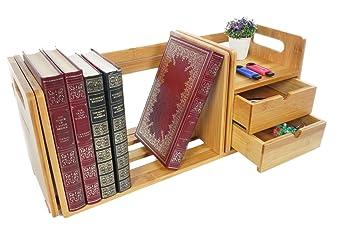 Bramley power support en bois de bambou avec tiroirs pour moniteur