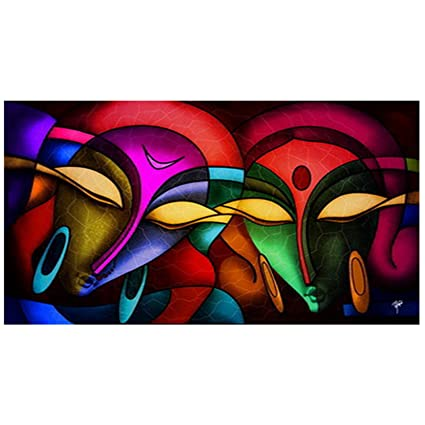 ray decor man woman painting digital wall painting recycled