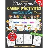 Mon grand cahier d'activités maternelle: de 4 à 6 ans | Apprendre en s'amusant | 200 activités dans le respect des programmes