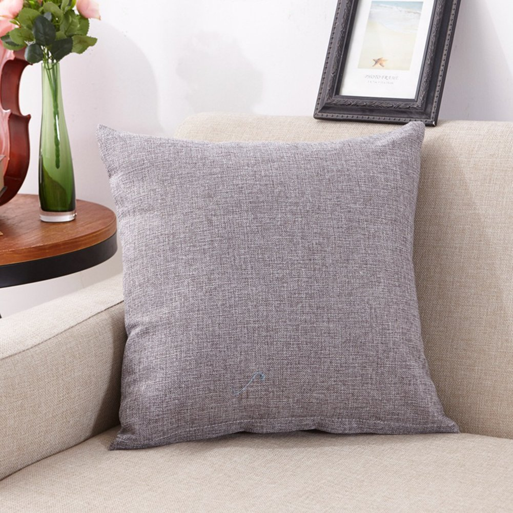 BeAllure Linen Throw Pillow Covers Cushion Cases 16''x16'' Sofa Chair Couch Coffee