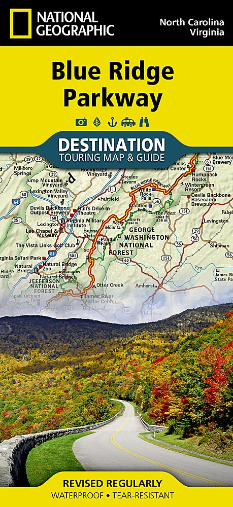 Blue Ridge Parkway (National Geographic Destination Map): National on ky road map, ky roadways map, ky lakes map, ky campgrounds map, ky bus map, ky parks map, ky rivers map, ky golf courses map,