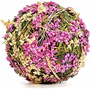 """Byher Natural Preserved Moss Hanging Ball Vase Bowl Filler for Garden, Wedding, Party Decoration (2"""" (12 Pack), Purple)"""