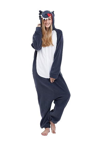 Fandecie Animal Costume Animal Traje Pijamas Pijamas Jumpsuit Lobo Mujer  Hombre Cosplay Adulto para Carnaval Animal Halloween  Amazon.es  Ropa y  accesorios 154acf5ff94