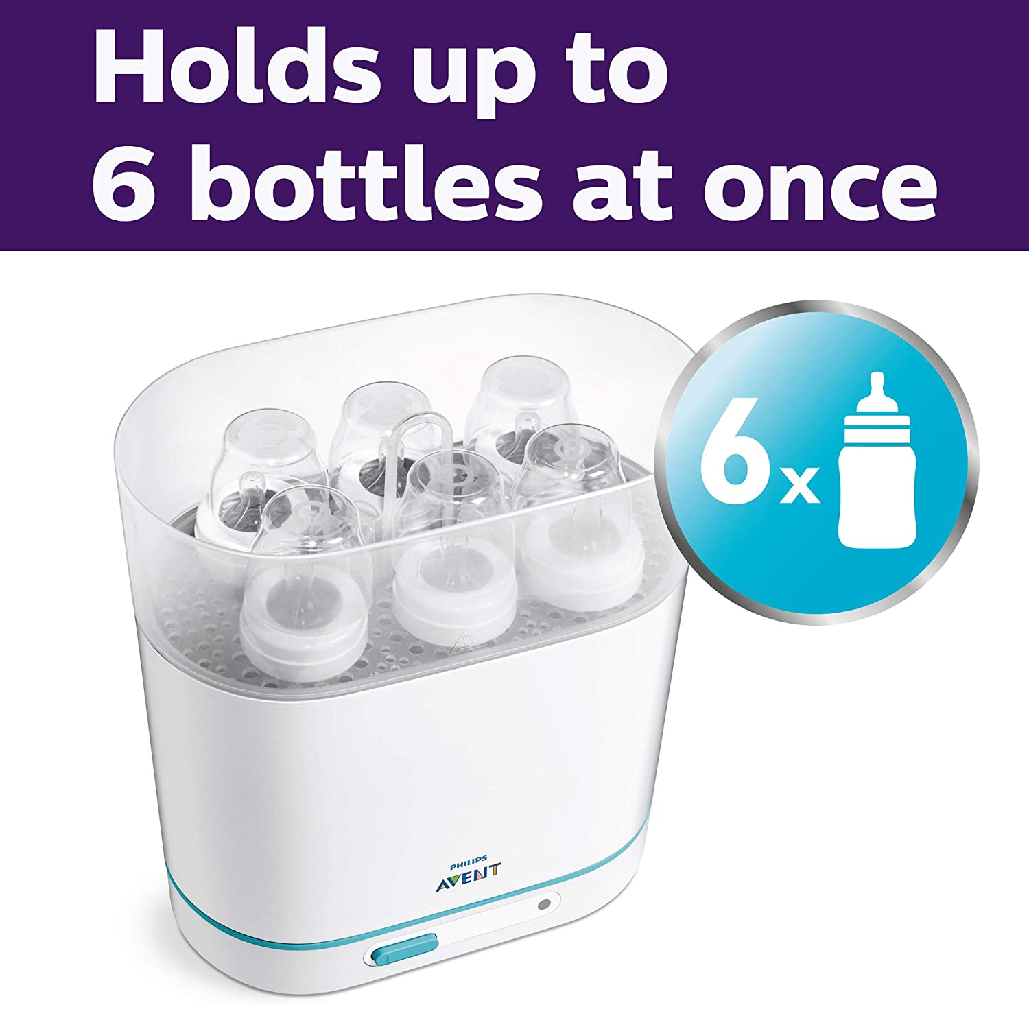 Philips Avent 3-in-1 Electric Steam Sterilizer for Baby Bottles, Pacifiers, Cups and More : Baby Bottle Sterilizers : Baby