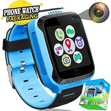 Kids Smartwatch Phone GPS Tracker con SOS Anti-perdida Call ...
