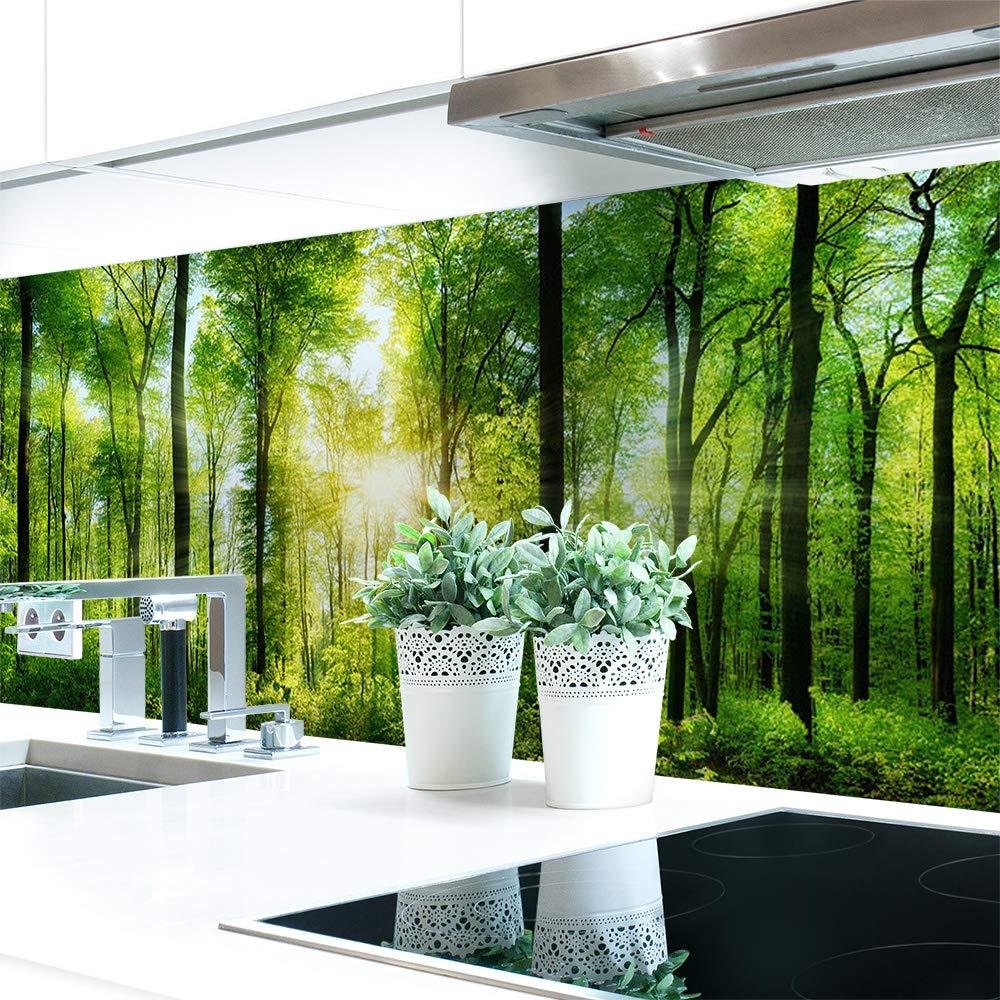 Amazonde Kchenrckwand Waldlichtung Premium Hart PVC 0 4 Mm