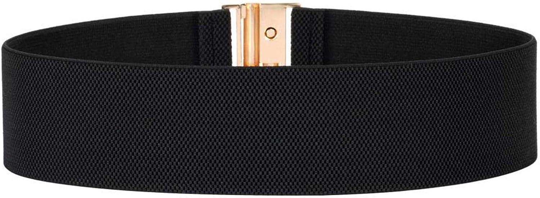 WODISON Cintura elastica da donna con elastico a fascia larga Cintura regolabile Cintura con fibbia in lega piatta elasticizzata Cintura per abito
