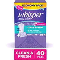 Whisper Daily Liners Clean and Fresh - 40 Count