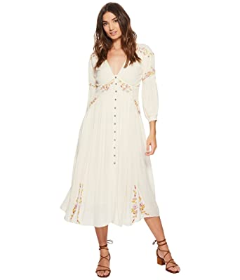 eb43d995626b Free People Day Glow Embroidered Midi Dress Small at Amazon Women's  Clothing store: