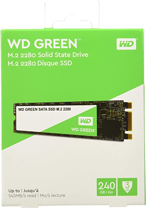 Western Digital Green, Internal SSD M.2 SATA, Serial ATA III ...